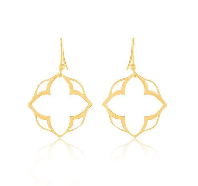 Ohrhänger - Ornament Boho Ohrringe Edelstahl gold - ein Designerstück von BohemianFleur bei DaWanda