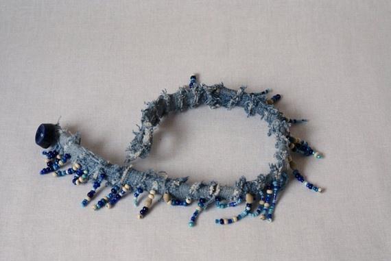 #jeans #denim #recycled #bracelet