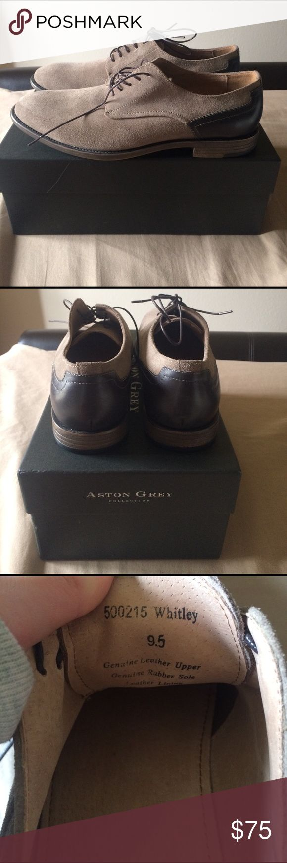 Aston Grey Whitley Dress Shoes Aston Grey Whitley Dress Shoes. Never worn. Aston Grey Shoes