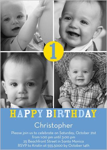 Number One Boy Birthday Invitation: Birthday Parties, Josh Birthday, Boy Birthday Invitations, Birthday Cards, Chris Birthday, Sam Birthday, 1St Birthday, Boys Birthday Invitations, Liam Birthday