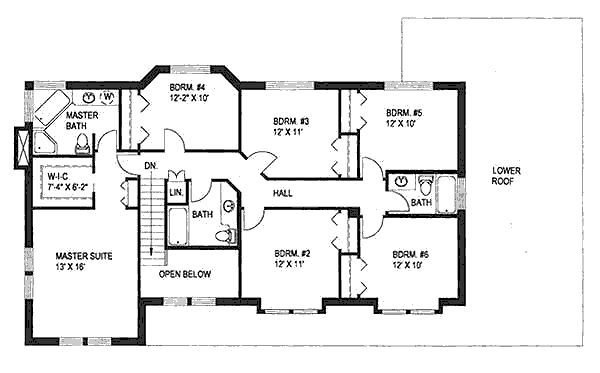 6 bedroom house layout | design ideas 2017-2018 | pinterest
