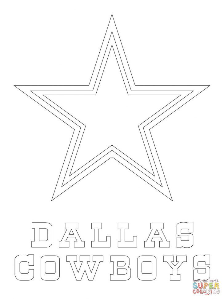 25 Amazing Picture Of Cowboy Coloring Pages Dallas Cowboys Star