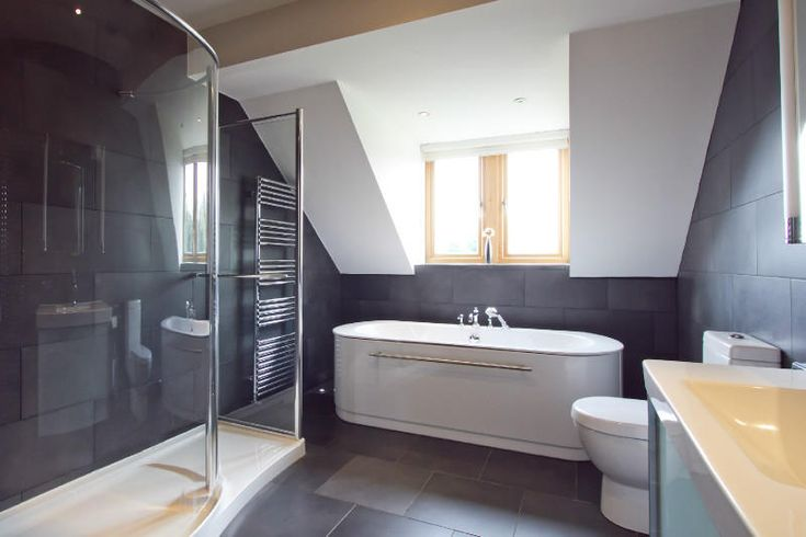 Bathroom, The Interesting Design Idea Also Beautiful White Sink Also Faucet Also Beautiful Innovation Also Best Decoration Style Idea: The Best Design Bathroom Look So Modern Style By Using The Slate Tile Bathroom