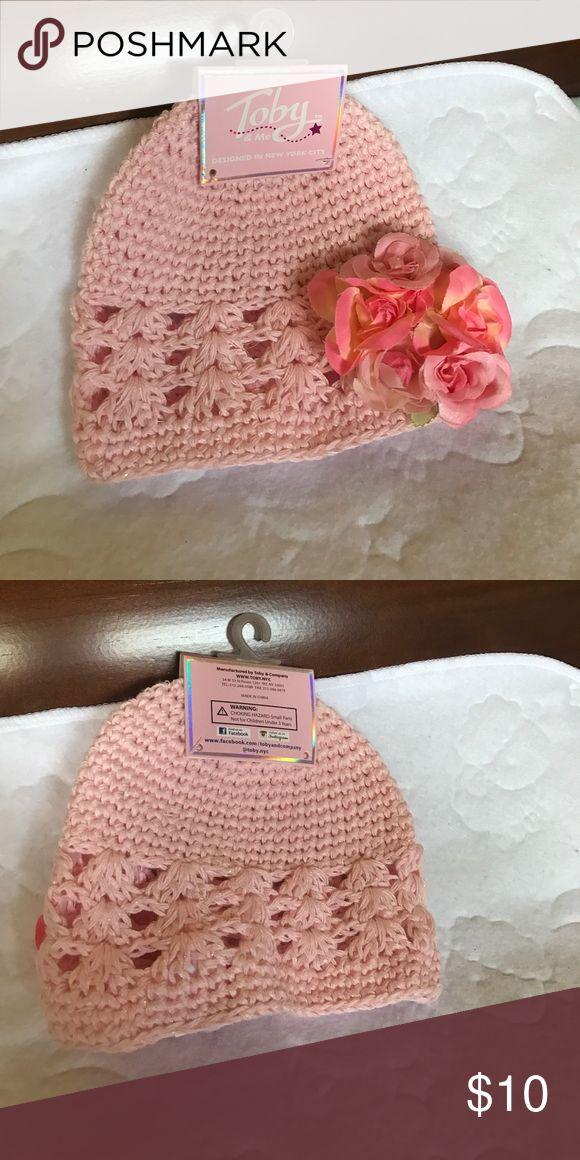 Crochet baby girl winter hat Never worn. Beautiful flower detail. Other