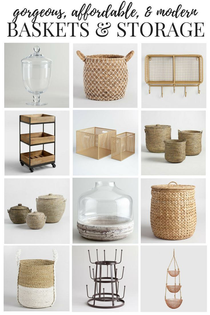 A roundup of gorgeous, affordable storage and organization options from World Market. Unique options for keeping clutter out of your home!