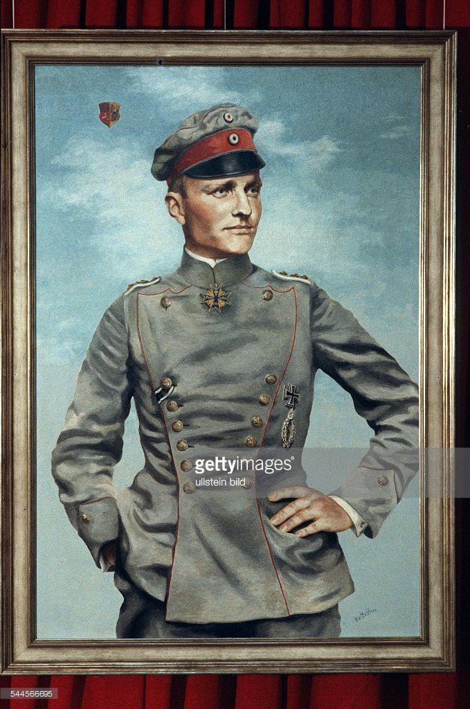 Manfred von Richthofen - Aviator, Germany - Painting - undated