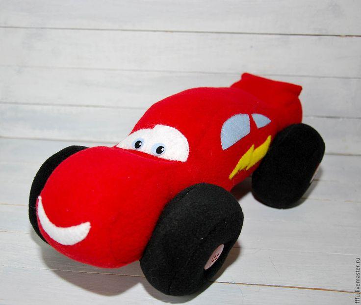 Купить Игрушка -подушка Машинка Молния Маккуин - ярко-красный, молния маквин, маквин, мультяшки