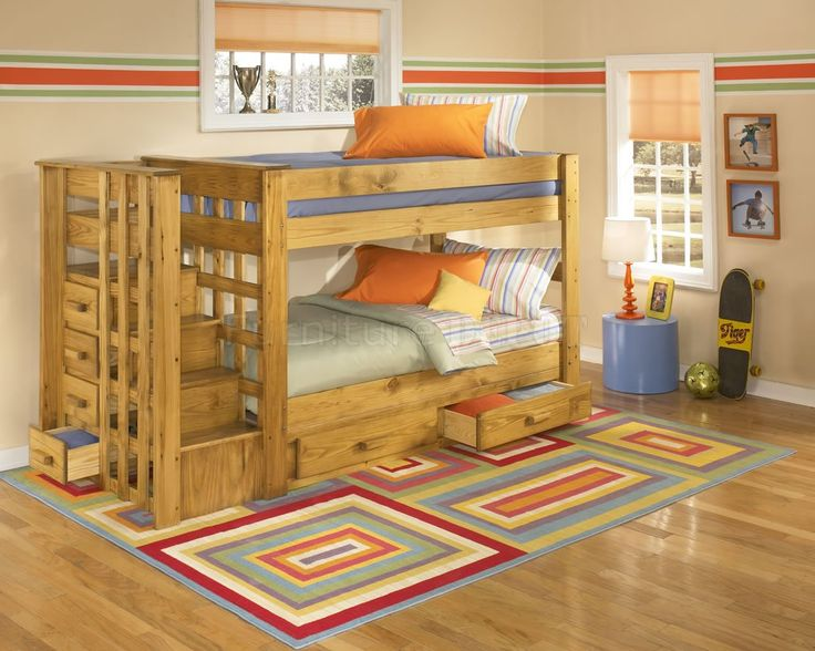 Wood Bunk Bed With Stairs Cool Bunk Beds With Stairs