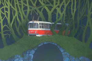 The Strayed Tram by yanadhyana