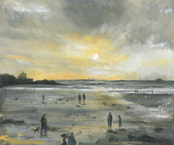 BAMBURGH BEACH A bright and uplifting depiction of Bamburgh beach. The limited edition print was made from an original acrylic painting on canvas.     Format: Limited edition Giclee printed on Epson Enhanced Matt 192gsm  Print size: 25 x 30cm  Mounted size: 43 x 45cm  FREE UK mainland standard delivery on all orders