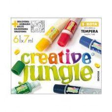 6 színű tempera festék 7 ml műanyag tubusban - Creative Jungle - Tempera készlet - 339Ft - Tempera festék - Tempera készlet