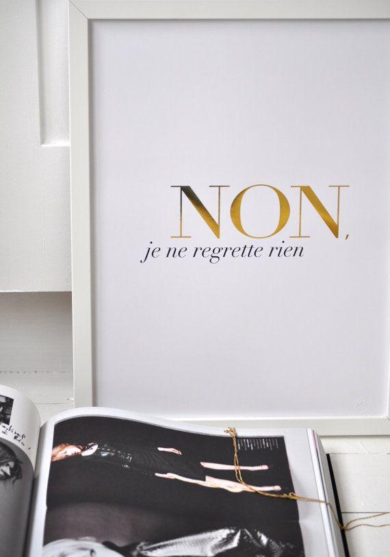 """Wish List // Affiche """"Non Je Ne Regrette Rien"""", SarahandBendrix"""