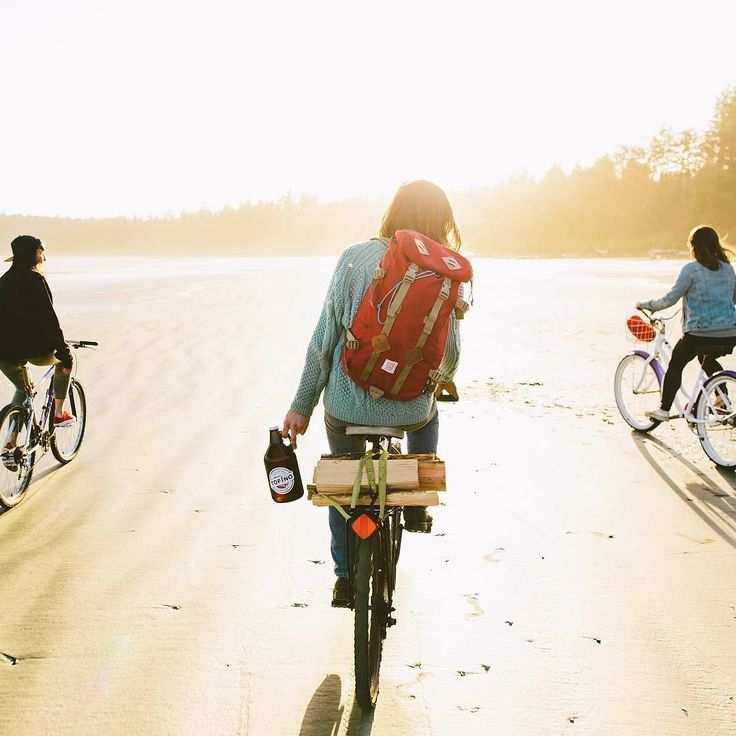 From Graeme Owsianski based in British Columbia: it's Friday! Grab bikes beers and firewood and ride off into the sunset   #wanderlust