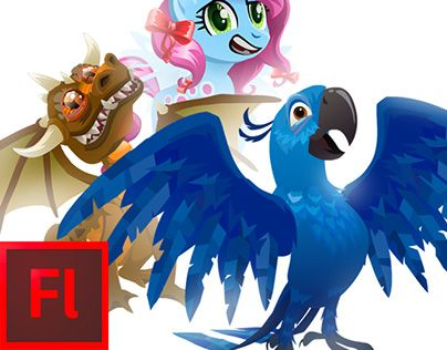 "Check out new work on my @Behance portfolio: ""Flash characters 
