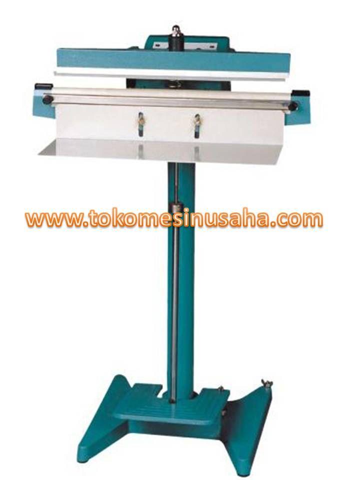 Mesin Pedal Sealer adalah mesin yang digunakan untuk mengemas kemasan produk pada kemasan plastik dengan menggunakan pedal. Mesin ini tidak jauh beda dengan pengemas vakum menggunakan tangan, hanya pada mesin ini mengemas menggunakan kaki. Spesifikasi : Tipe : PFS – 350 Panjang Sealer : 35 cm Power : 600 W Daya : 220 V/ 50 Hz Dimensi : 45 x 15 x 88 cm Berat : 19 Kg