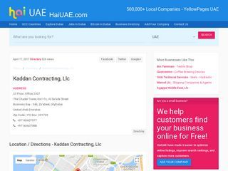 Kaddan Contracting, Llc  The Citadel Tower,<br/>1c, Al Sa'ada Street 33 Floor, Office 3307 Business Bay - 346, Za'abeel,  Dubai |  HaiUAE.com - Complete information about Dubai, Local Business pages Directory, UAE company listing, yellow pages, telephone directory. Find a business near you. Expats Guide to Dubai, Ajman, Alain, Abu Dhabi, Fujairah, Sharjah, Ras al khaimah, Umm Al Quwain, United Arab Emirates