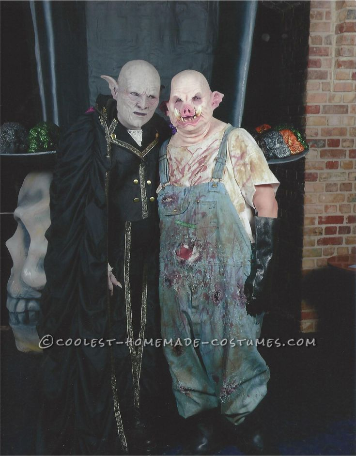 horror couple costume count orlok and pig couple costume scary halloween