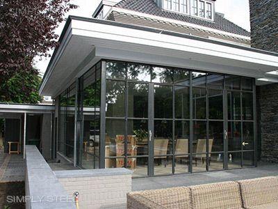 Simply Steel exterieur buitenpuien | http://www.simply-steel.nl