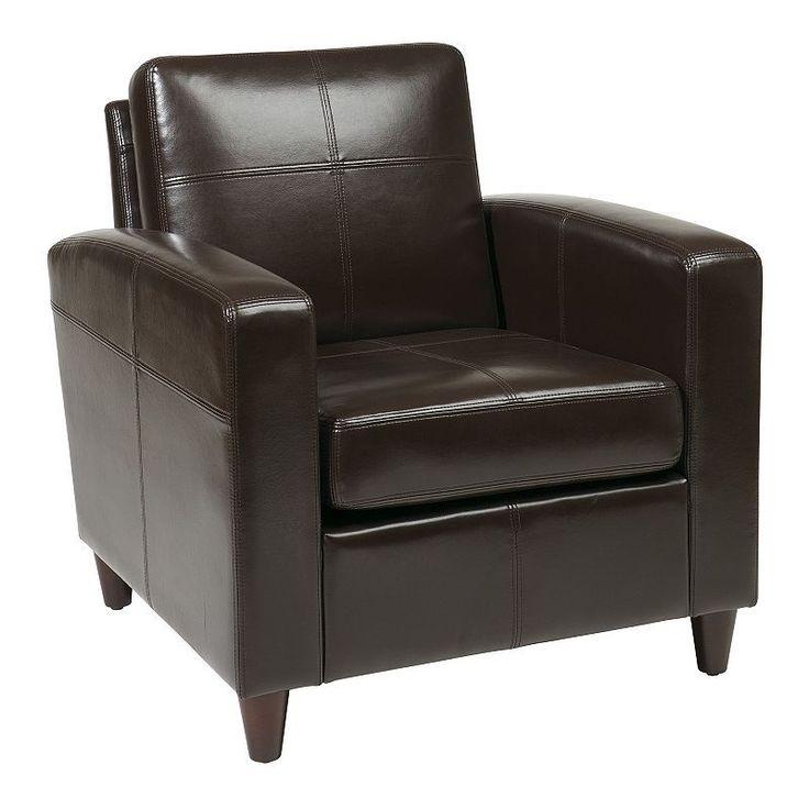 Office Star Products Avenue Six Venus Club Chair, Brown