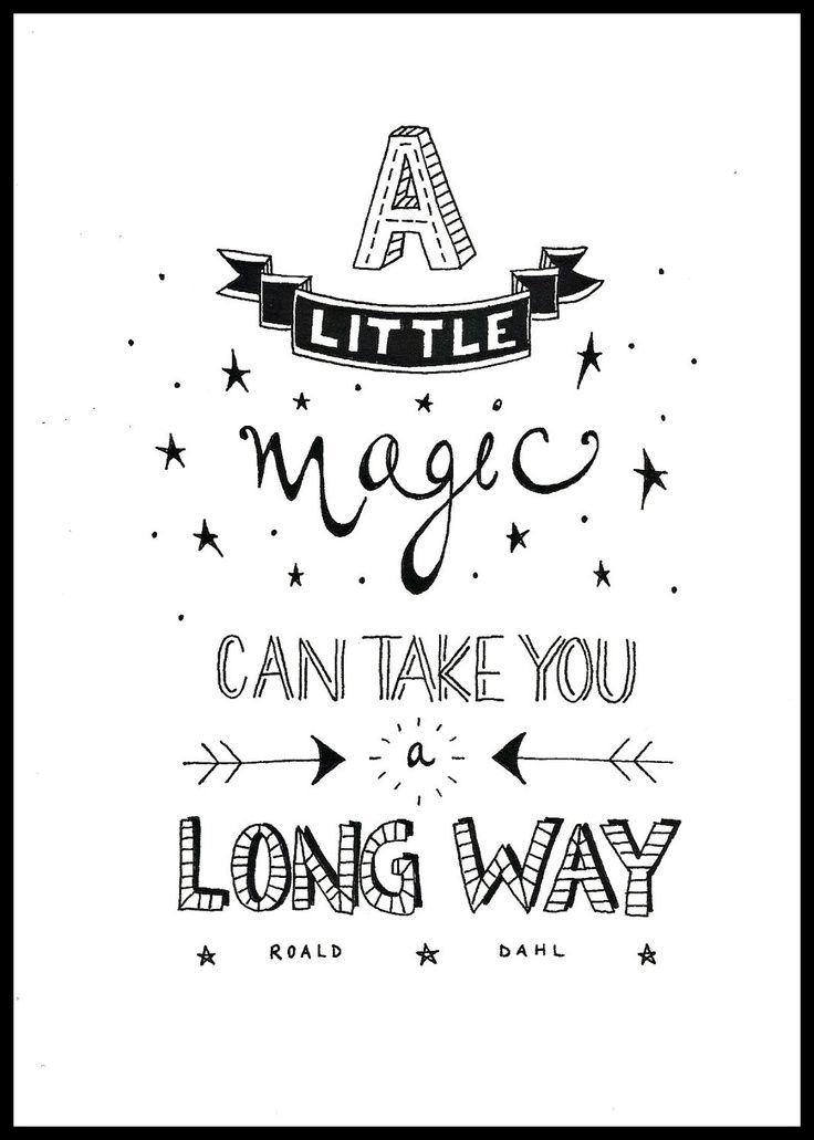 A little magic can take you long way! Um pouco de magia pode levá-lo muito longe!