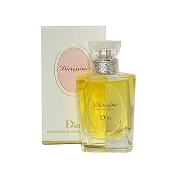 DIORISSIMO Eau De Parfum     1.7 Oz Eau De Parfum Spray by Dior.  Created in mid 1950's this elegant scent of lily of the valley is truly most elegant. Grace Kelly favorite. And mine.