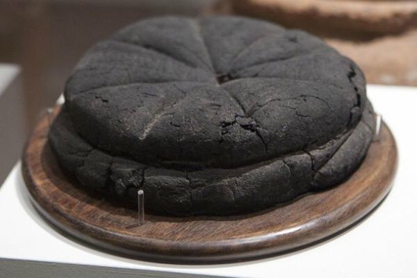 Preserved loaf of bread from Pompeii. 79AD.