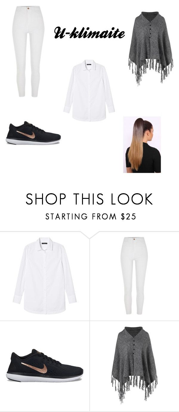 """2018.02.01"" by u-klimaite ❤ liked on Polyvore featuring Banana Republic, River Island and NIKE"