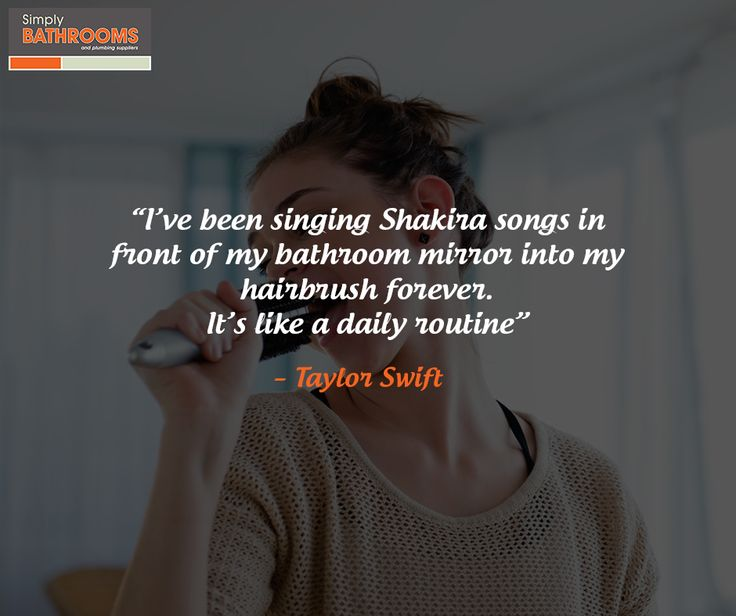 Who's guilty of singing in the shower? #DreamBathroom #QuoteoftheDay #SimplyBathrooms