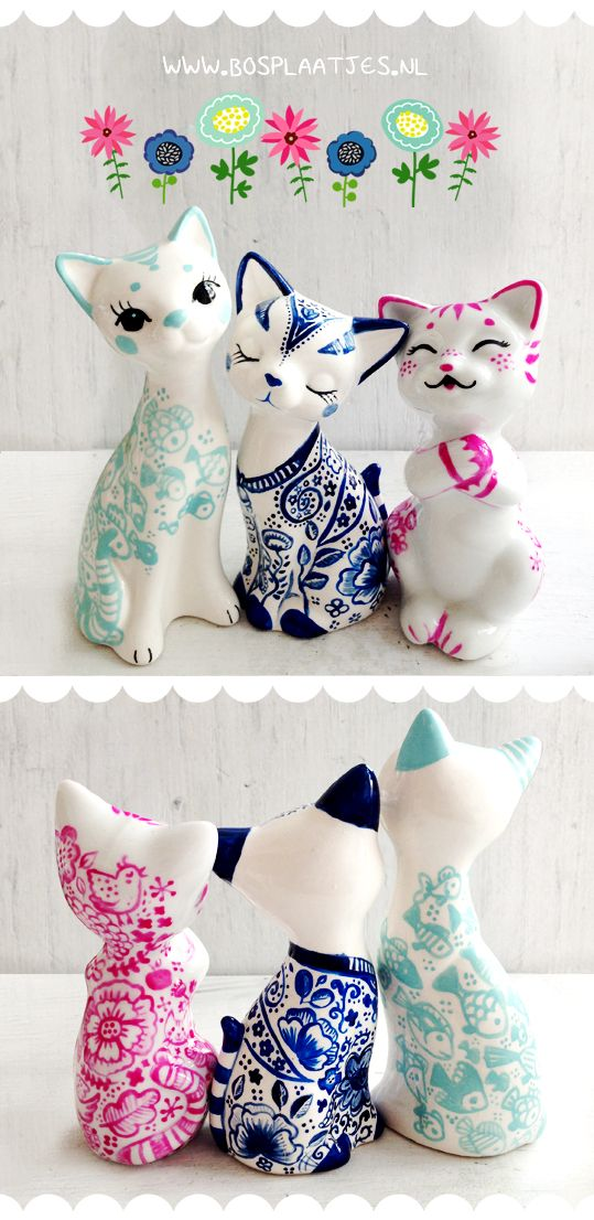 Kitsch cats. These are cute :)
