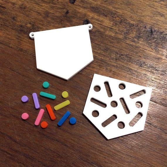 1 DIY Pendant Kit  Sprinkles by CraftyCutsLaser on Etsy, $8.00 #craftycutslaser #lasercut