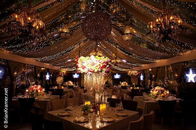 Starry Night Tent-- ceiling decor love for engagement dinner party perhaps love