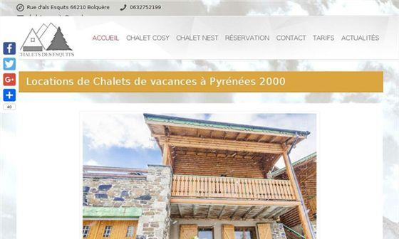 Chalets des Esquits - Location de chalets de vacances au ski à Font Romeu     - Bolquère, Pyrénées-Orientales, Languedoc-Roussillon