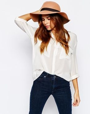 Enlarge Warehouse Floppy Brim Hat