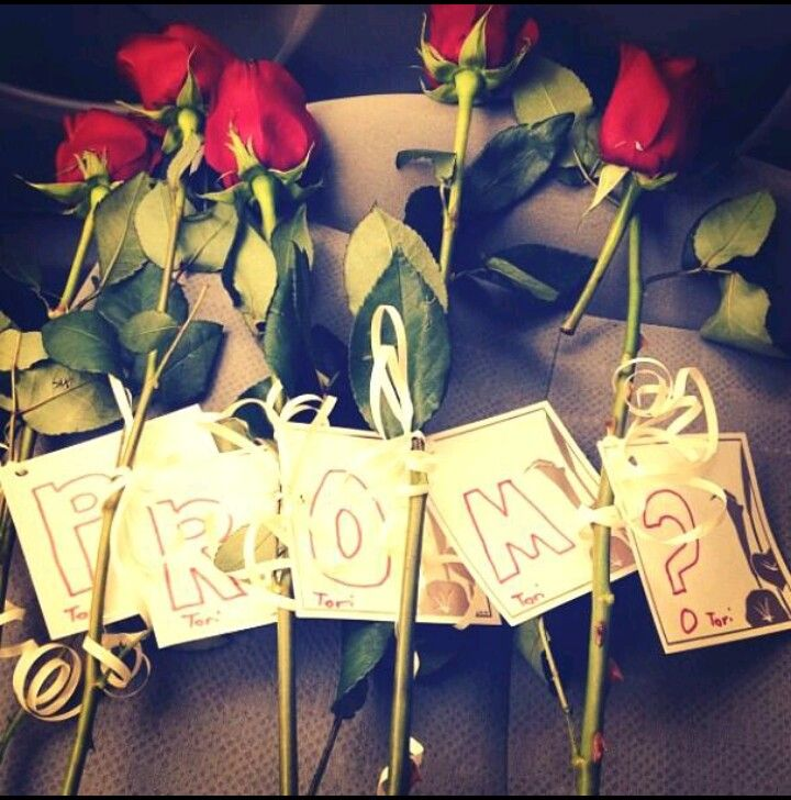 Create ways to ask someone to prom- Roses