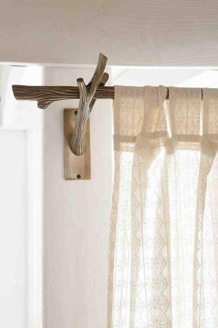 Stylish And Beautiful Curtain Rod Log Tree Branch Curtain Bar