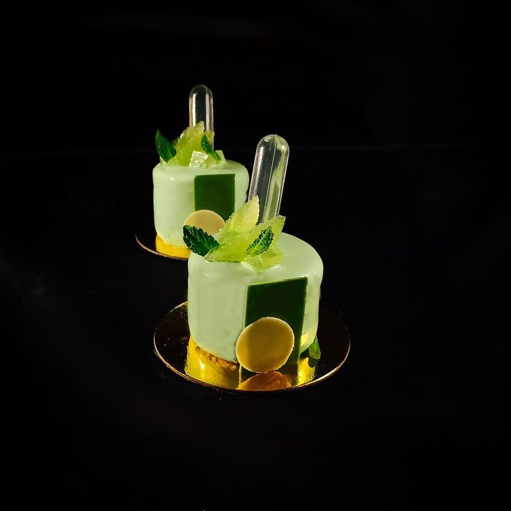 """Mojito petit gateaux - mojito mousse, lime and club soda cremeux, lime dacquoise, #TagsForLikes #Bachour #bachourchocolate #bachourchocolatebook…"""