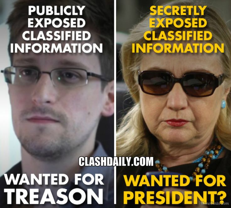 THIS PIC BRILLIANTLY DEPICTS: The Difference Between HILLARY & EDWARD SNOWDEN ⋆ Doug Giles ⋆ #ClashDaily