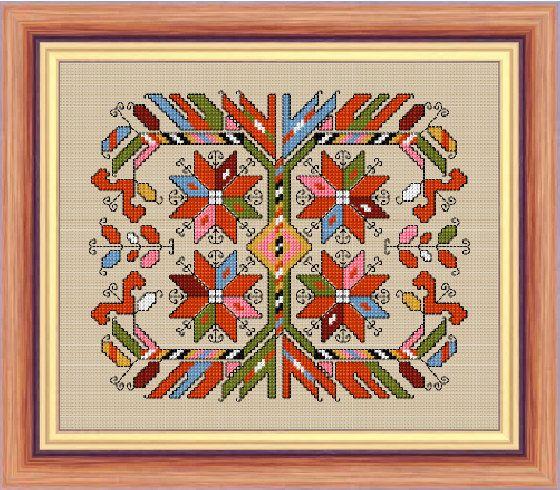 BULGARIAN EMBROIDERY Cross stitch pattern PDF format by pelagiya