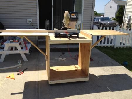 Miter saw cart do it yourself home projects from ana for Do it yourself garage plans