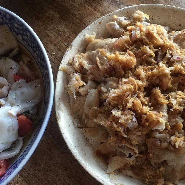 弟の十八番豚しゃぶの古漬けソースが今日は台湾の酸白菜を刻んだものになってた by shige82a