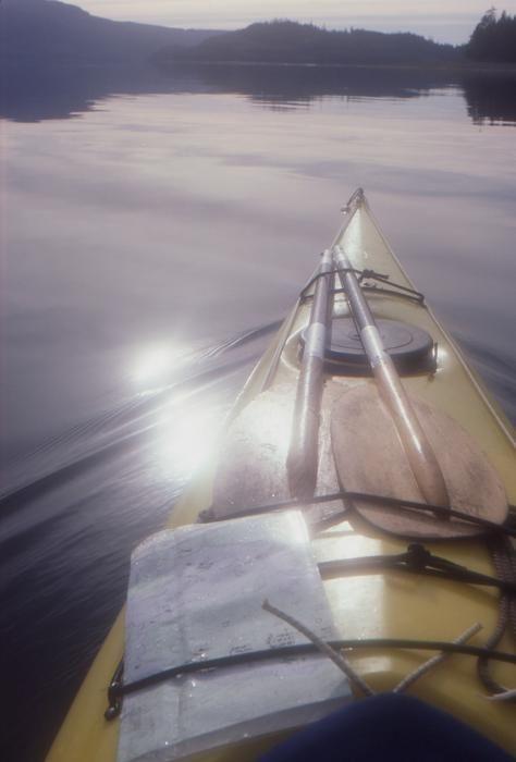 Kayak in Haida Gwaii photograph by Scott Alpen