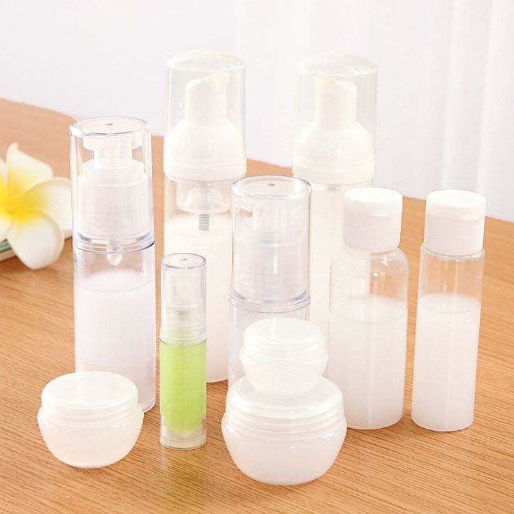 LASPERAL Makeup Containers Plastic White Transparent Mini Cosmetic Empty Jar Pot Eyeshadow Makeup Face Cream Container