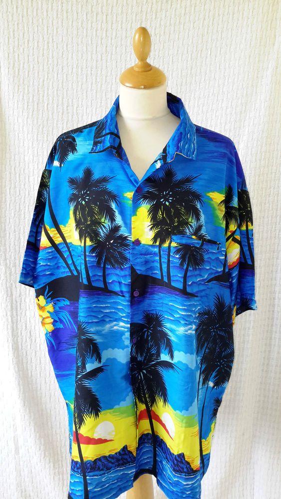 Vintage 1940s 1950s style rockabilly Hawaiian shirt size XL