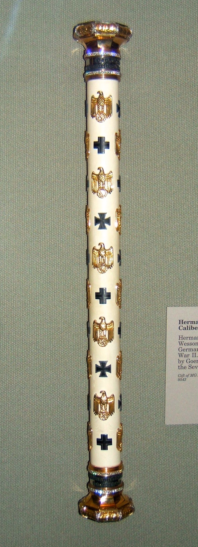 Luftwaffe baton of Generalfeldmarschall Hermann Goering, at the West Point Museum.