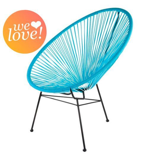 Fauteuil acapulco bleu turquoise acapulco and turquoise - Elastique chaise longue ...