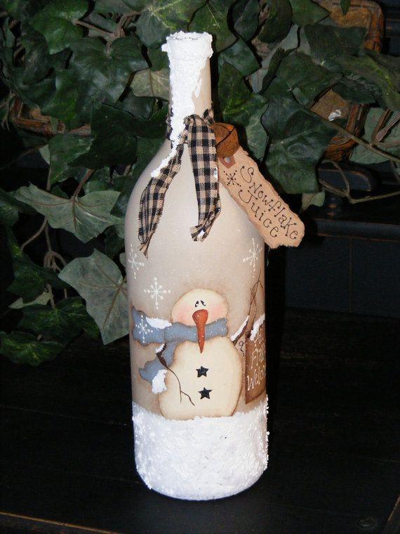 Primitive Snowman Decor Primitive Christmas Decor by theprimplace, $19.99