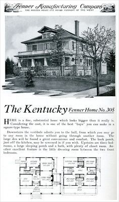 365 Best Images About American Foursquare Houses On