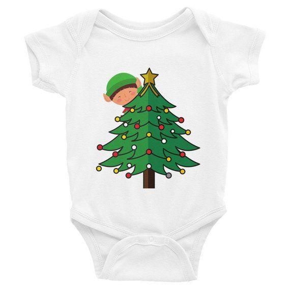 Christmas Tree Christmas Elf Christmas Bodysuit Christmas Onesie Baby Girl Outfit Baby Shower Gift Baby Boy Outfit Infant Bodysuit Baby Boy Outfits Christmas Bodysuit Boy Outfits