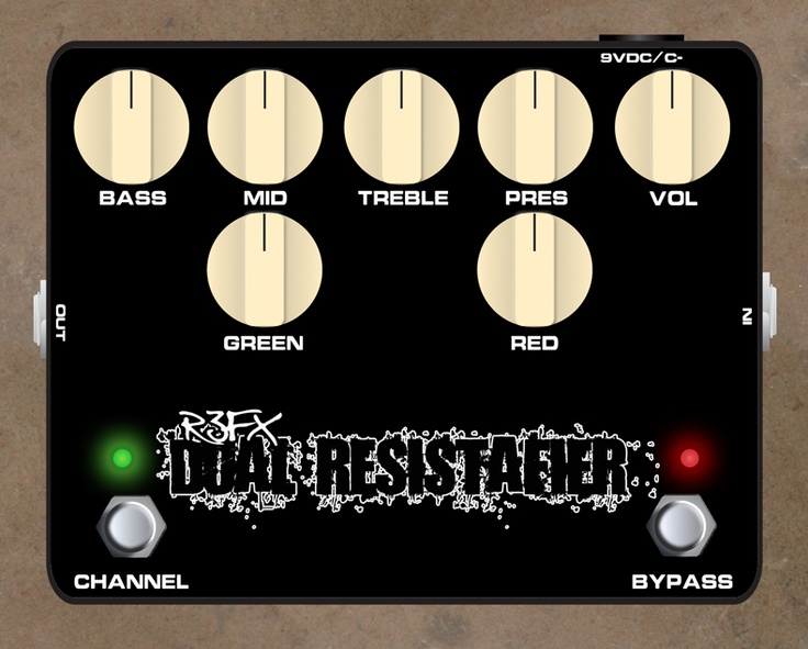 R3FX Dual Resistafier  Modern high gain distortion, similar to Mesa Boogie / Soldano tone - also available with a built in cabinet simulator.