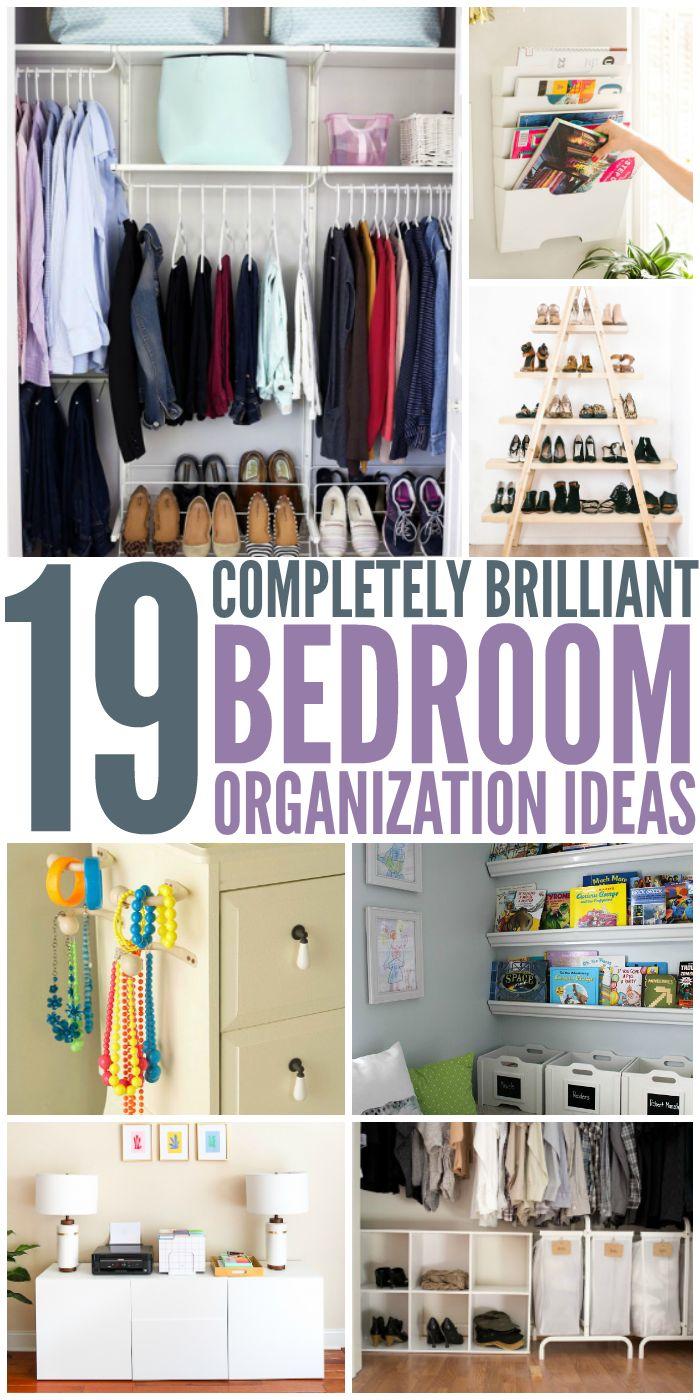 25 best bedroom organization ideas on pinterest apartment bedroom decor room organization and apartment closet organization - Organized Bedroom Ideas